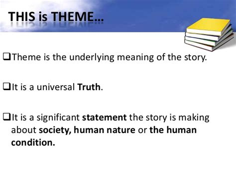 the point of the a novel of the 20th century books finding themes in literature ppt