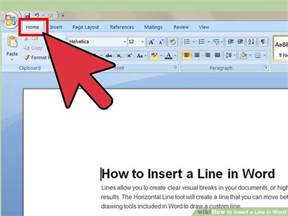 Get Word 3 Ways To Insert A Line In Word Wikihow