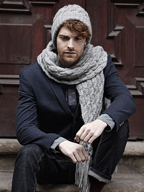 knitting pattern for mens scarf and hat twisted cable hat scarf pattern knit rowan