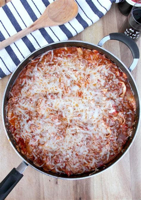 easy lasagna recipe without cottage cheese easy skillet lasagna without ricotta southern food and