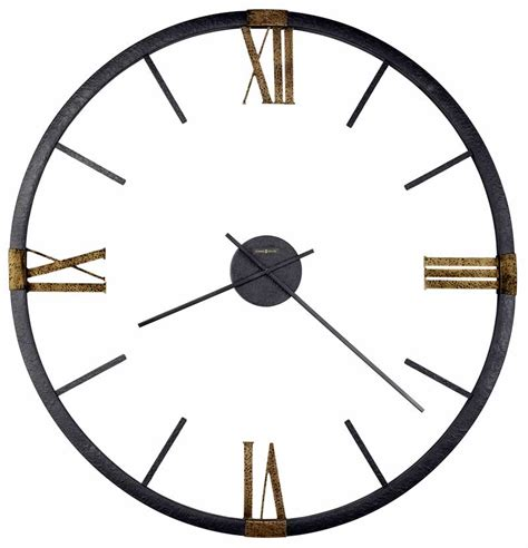 625570 prospect park oversized metal frame antique gold numerals wall clock