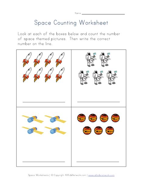 kindergarten activities on space kindergarten space math worksheets