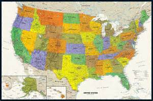 wall map contemporary usa wall map