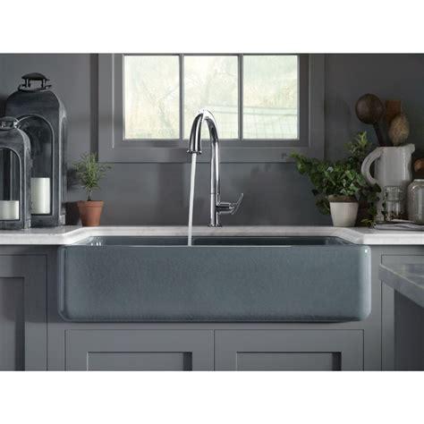 Kohler k 6427 0 whitehaven white kitchen sinks sinks efaucets com