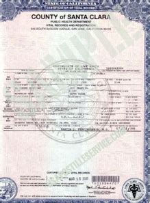 San Bernardino Of Records Birth Certificate California Apostille