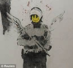 early banksy preserved  posterity  expert restorers circa  daily mail
