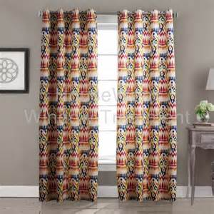Multi Colored Curtains Contemporary Abstract Bohemian Style Multi Color Floral Grommet Top Lined Blackout Curtain