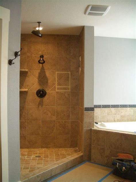 doorless shower ideas walk