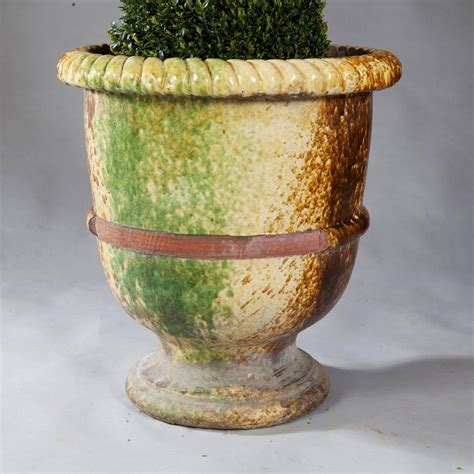 Garden Terracotta Pots And Planters by Pair Of Italian Large Glazed Terracotta Garden Pots For