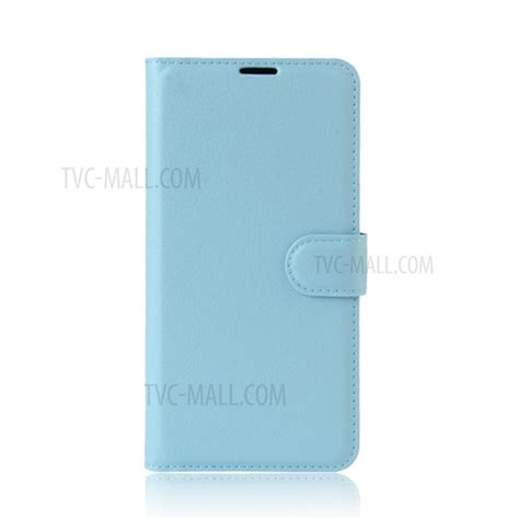 Oppo A57 Baby Skin Ultra Thin Blue lychee skin leather stand with card slots for oppo a57 a57m baby blue tvc mall