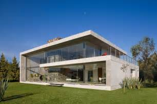 architectural house concrete glass residence in mexico gp house