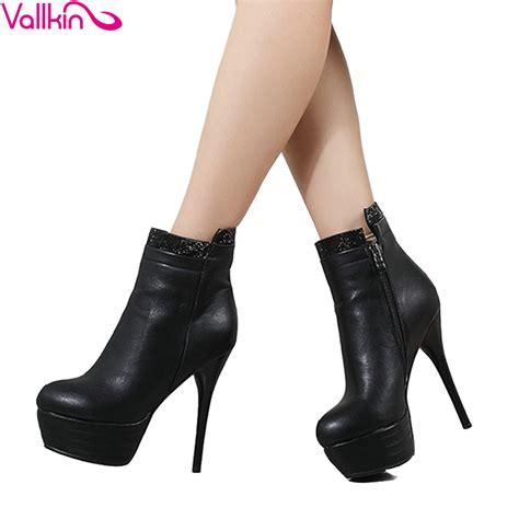 Boots Zipper 2018 vallkin 2018 winter autumn boots thin high heels zipper ankle boots club