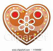 Christmas Heart Gingerbread Cookie Posters Art Prints By