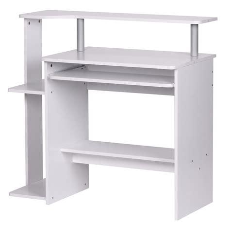 white desk with keyboard tray computer desk office furniture white much storage