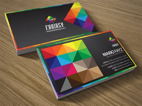 fantasy colors corporate business card lemon graphic singapore business card graphic design