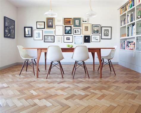 Kitchen Diner Flooring Ideas Reclaimed English Oak Herringbone Reclaimed Flooring