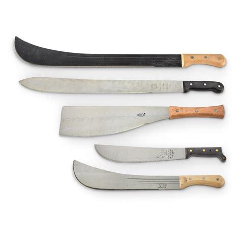 machete knifes surplus assorted machete knives 5 pack new 653294 swords machetes at