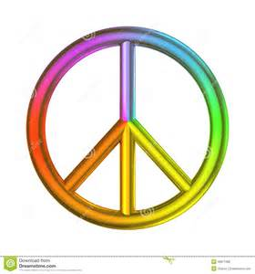 what is the color of peace peace freedom sign rainbow color stock illustration