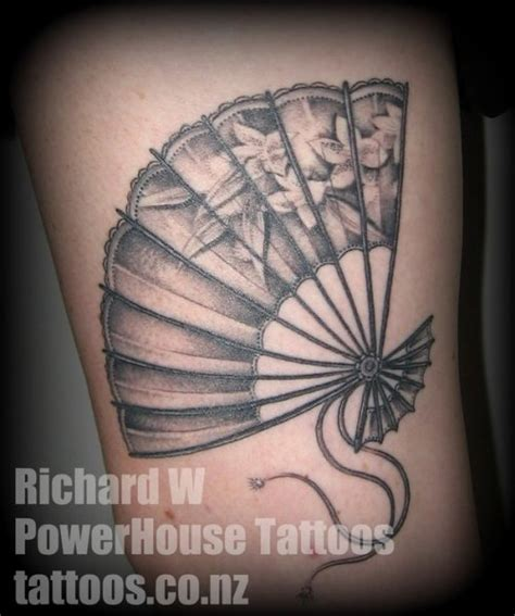 japanese fan tattoo designs japanese fan by nj until theres a better photo
