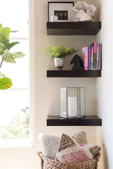 corner shelves living room fascinating corner shelves to get the most out of your space