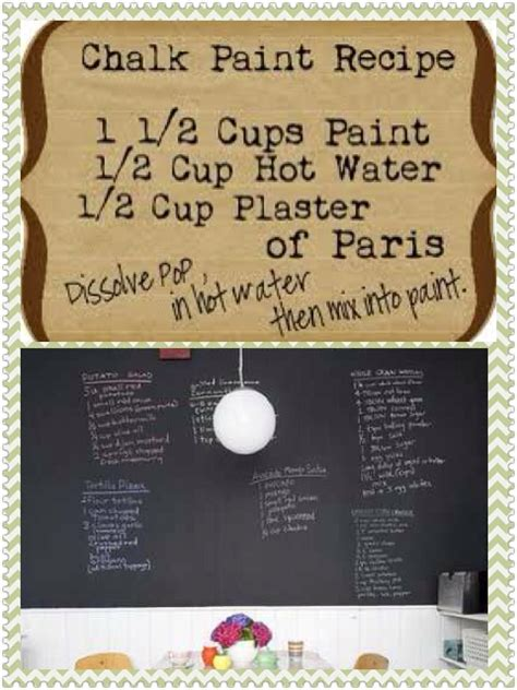 diy chalkboard recipe chalkboard paint recipe crafts