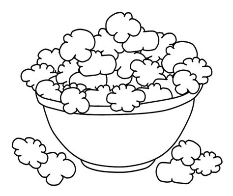 bowl of popcorn drawing