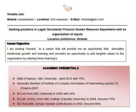 What Can A Paralegal Do With An Mba by Resume Objectives 46 Free Sle Exle Format