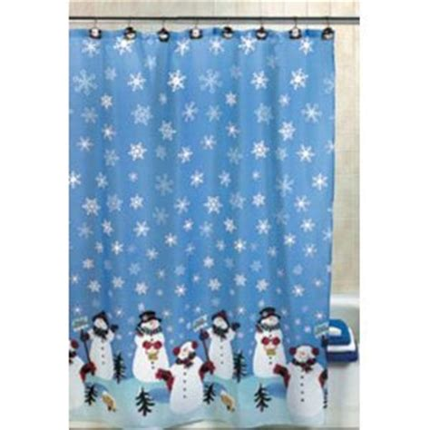 amazon com snowman christmas holiday winter fabric shower