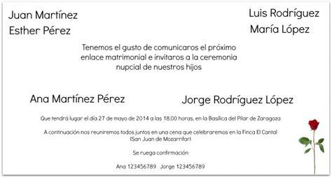 textos para las invitaciones de matrimonio texto para invitaciones de boda cl 225 sico o innovador
