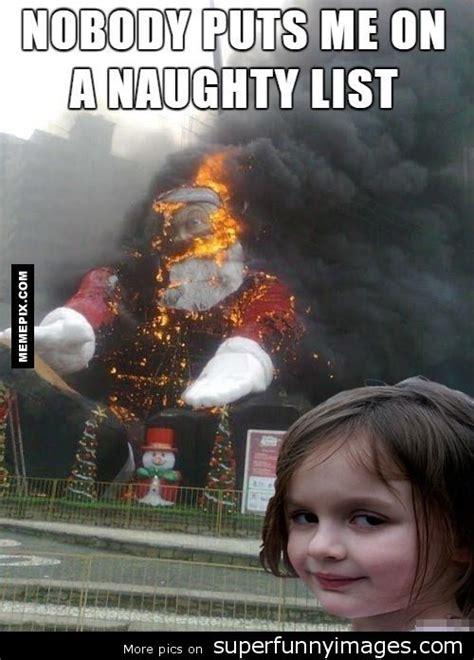 Anti Christmas Meme - museudememes disaster girl