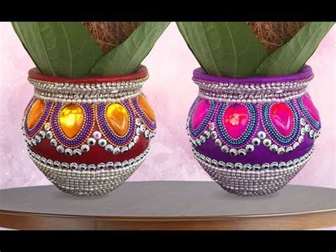 how to decorate pot at home pot decoration ideas kalash decoration i wedding
