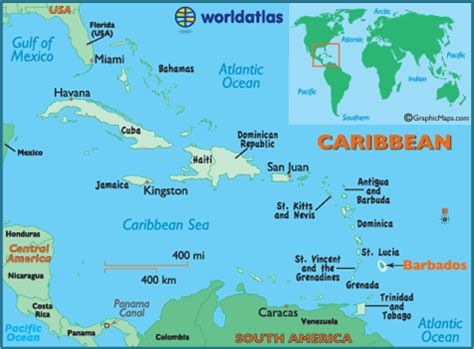 Barbados On World Map by Barbados Map Geography Of Barbados Map Of Barbados