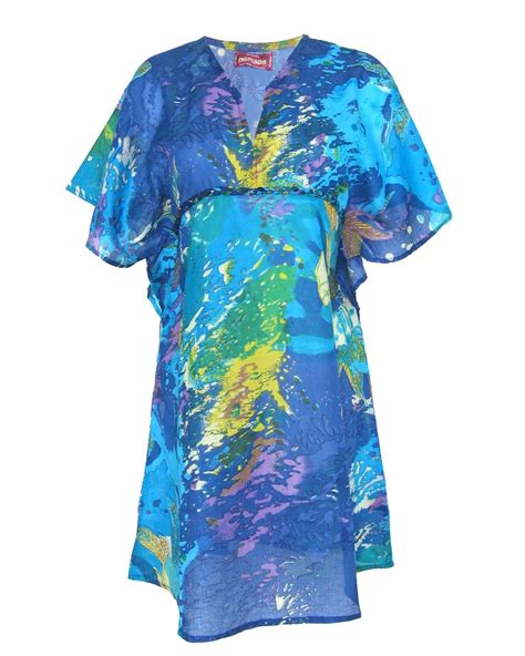 nomad fair trade multi print kaftan