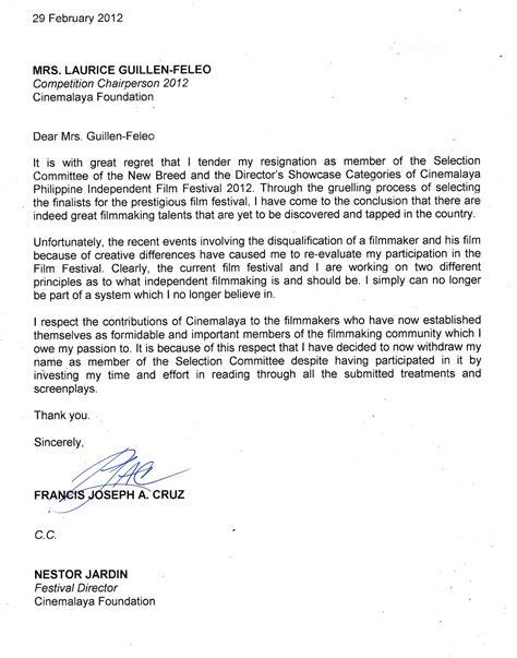 resignation letter sample for assistant professor military
