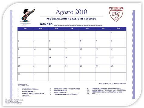 Calendario De Estudio Talleres Psicoeducativos Cpj Calendario Programacion