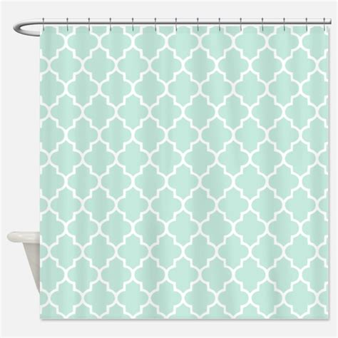 mint shower curtain quatrefoil shower curtains quatrefoil fabric shower