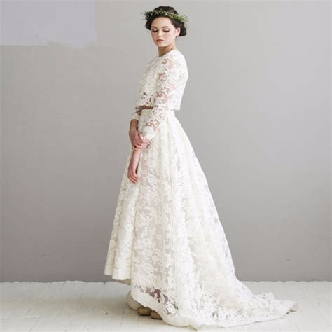 Gplm 01 Gaun Pengantin Wedding Dress Lengan Panjang Import Murah vintage renda 2 wedding dresses gaun pengantin