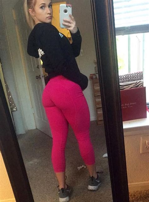 girl in pink yoga pants cute girl showing off her new pink yoga pants