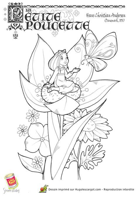 Coloriage la Petite Poucette - Hugolescargot.com