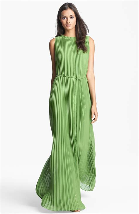 Greeny Maxi Dress ted baker pleated maxi dress in green green lyst