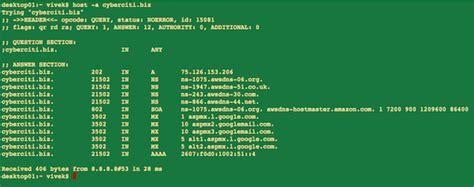 linux  unix host command examples nixcraft