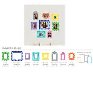 Wall Sticker Frames multi colored sticker frame peel and stick kit