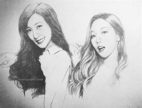 Taeyeon Sketch and taeyeon by farah00a on deviantart