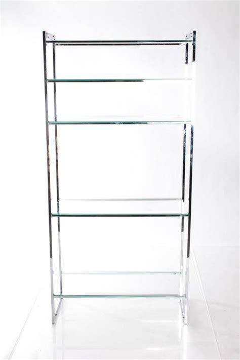 Etagere 3 Stöckig Glas by Pair Of Chrome And Glass 201 Tag 232 Res For Sale At 1stdibs