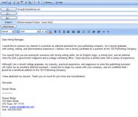 how to email a cover letter how to write an application letter cover letter that