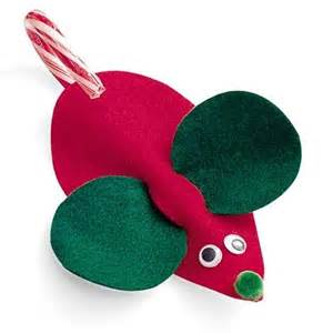 Felt mouse candy cane holder felt mouse candy cane holder table top