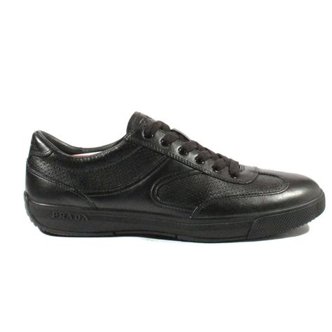 black leather sneakers mens prada sports mens shoes black leather sneakers 4e1526 prm37
