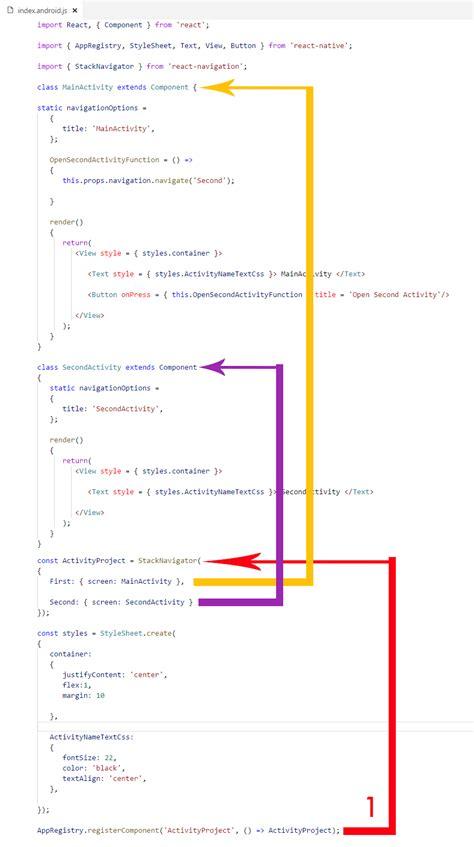react native navigator tutorial add new activity in react native app using stacknavigator