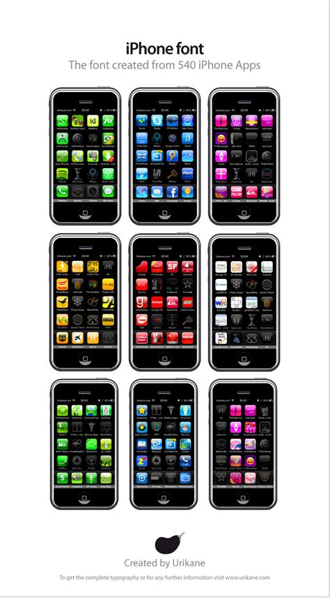 The Iphone Font Created From 540 Iphone Apps Macstories