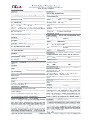 Taa Apartment Lease Form Apartment Association Fill Printable